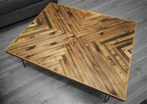 Natural Wood Kitchen Island by Herringbone Coffee Table Rh Timber