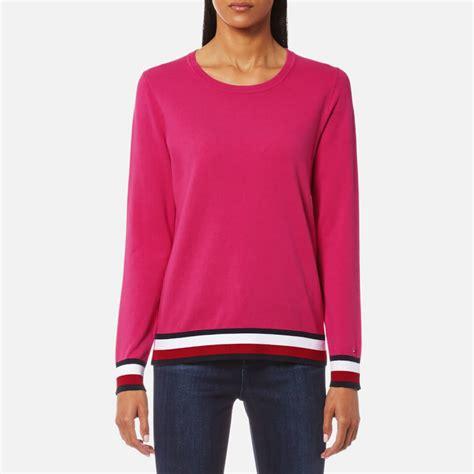 gravy boat crew neck sweatshirt tommy hilfiger women s ivy crew neck sweatshirt magenta
