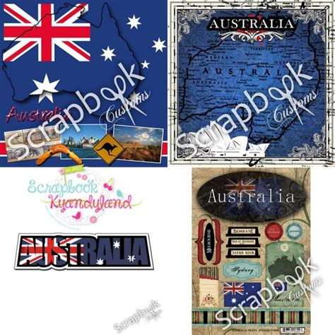 Paper Kits Australia - australia kit 12 quot x12 quot travel scrapbook paper stickers 8pc