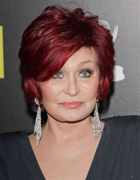 red hair colour on mature women celebrities with burgundy hair color