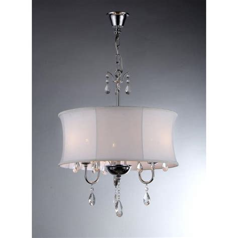 Chandelier With Fabric Shade Warehouse Of 3 Light Chrome Chandelier With Fabric Shade Rl3207 The