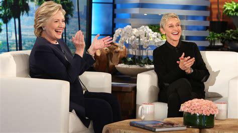 ellen degeneres show today hillary clinton on ellen laughs over trump debate dance