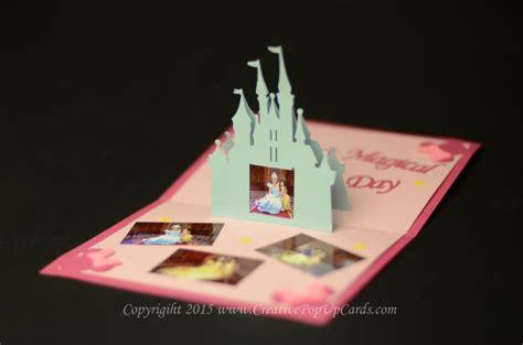 pop up card castle template castle pop up card tutorial creative pop up cards