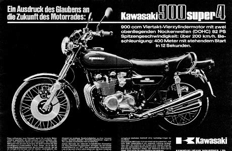 Werbung Kawasaki Motorrad by 40 Jahre Z Modelle Kawasaki Tourenfahrer