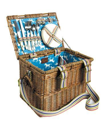 lovely picnic basket super cute  love