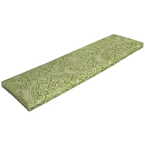 green bench cushion shop garden treasures green stencil green stencil