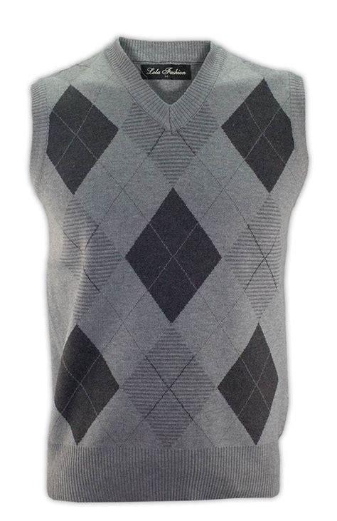 diamond pattern sleeveless jumper mens boys diamond sleeveless jumper pullover m 2xl