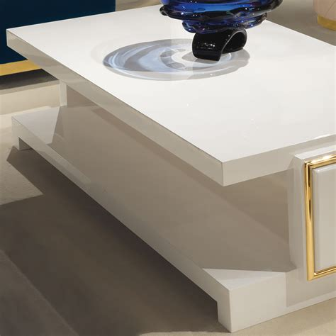 Ivory Coffee Table High End Modern Italian Designer Ivory Coffee Table