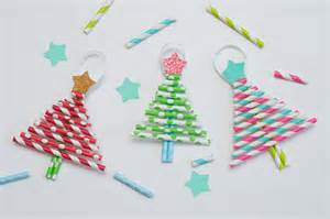 Halloween Craft Printables Free - paper straw christmas trees fun family crafts