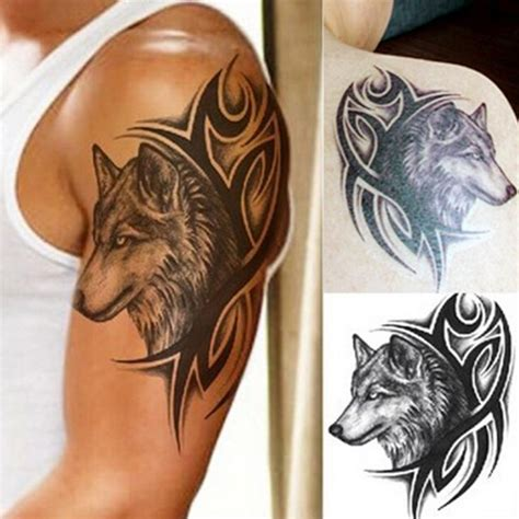 temporary sleeve tattoos for men 25 best ideas about wolf tattoos on wolf