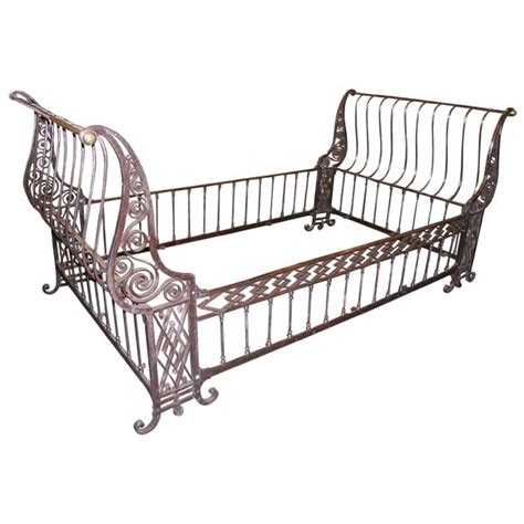 iron sleigh bed 18th century simi polished iron sleigh bed at 1stdibs