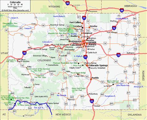 Printable Map Of Colorado