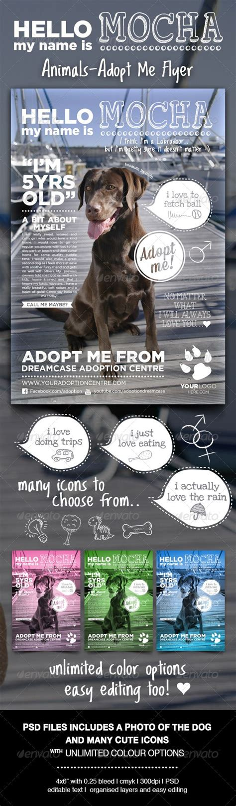 Animals Adopt Me Flyer Animals Flyers And Templates Adopt Me Flyer Template
