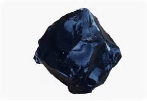 Obsidian specimen an igneous rock