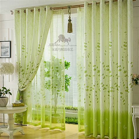 Fabric For Kitchen Curtains Aliexpress Buy Free Shipping Customize Green Window Curtain Fabric Cloth Cheap Curtain