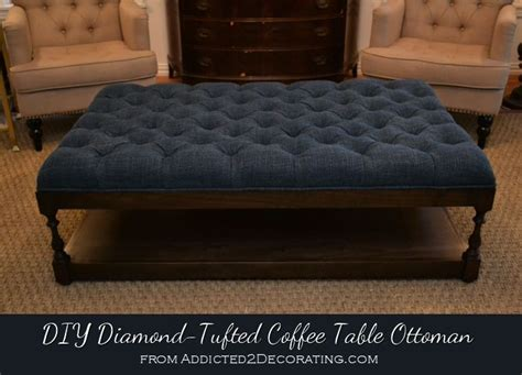 diy upholstered ottoman 1000 ideas about ottoman coffee tables on pinterest