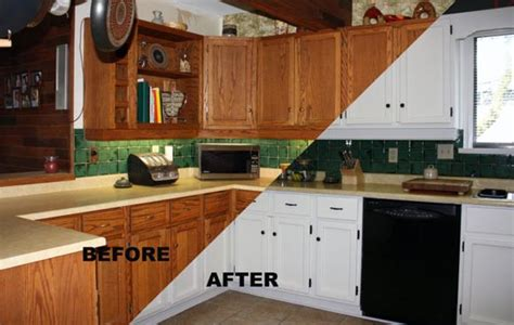 painting oak kitchen cabinets before and after cabinet painting 171 the master s touch painting