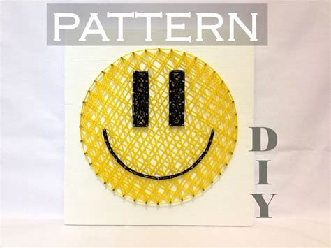 How To Make String Patterns - diy string pattern smiley pattern and