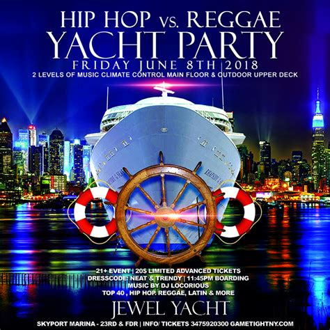 nyc boat party hip hop hip hop vs reggae nyc midnight cruise at the jewel yacht