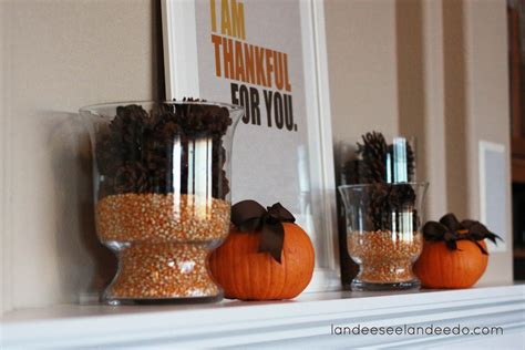 simple thanksgiving mantel landeelu com