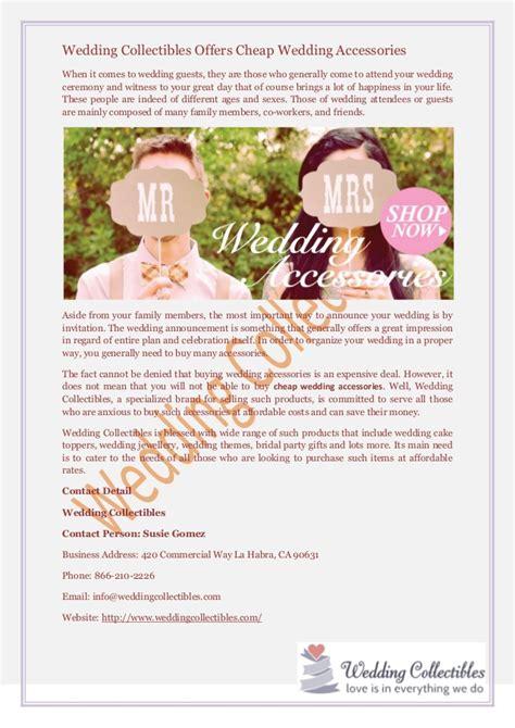Wedding Accessories Cheap by Wedding Collectibles Offers Cheap Wedding Accessories