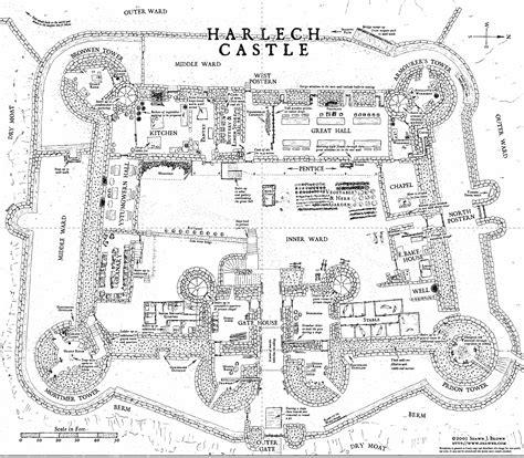 castle plans harlech castle floor plans in wales but still a really
