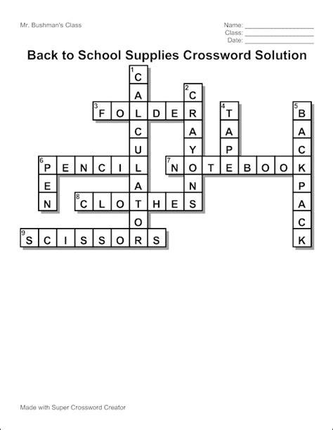 easy crossword puzzles to make edubakery com make a crossword puzzle with super
