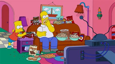 simpsons on couch simpsons super bowl couch gag l7 world