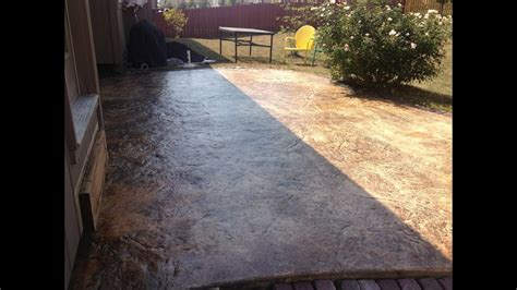 how to get stains concrete patio how to re seal a stained concrete patio
