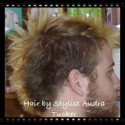 euro hawk haircut shaggy mohawk w bleached tips color cut hair style by
