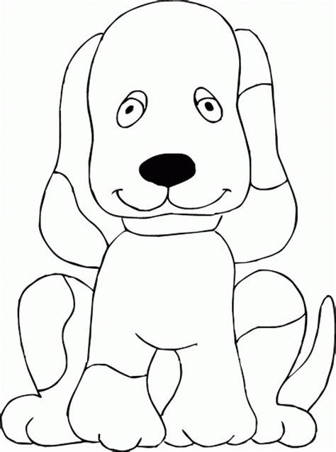 mewarnai quot gambar anjing duduk quot contoh anak paud
