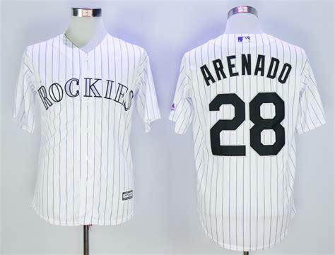 Nolan Arenado Jersey Giveaway - rockies 28 nolan arenado white cool base stitched youth mlb jersey