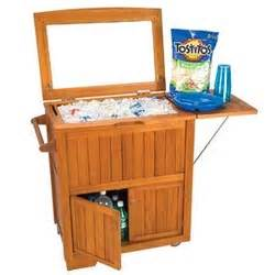 Cooler With Shelf by 50 Quart Wood Patio Cooler With Cabinet And Shelf