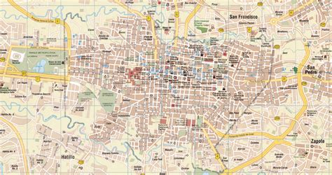 san jose tourist map allert
