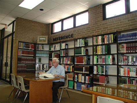 reference section in library tour the nesbitt memorial library