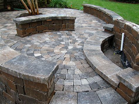 Brick Paver Patio Pictures Hardscape Package 4 Brick Paver Patio Pergola Firepit Retaining Wall Enhance Companies