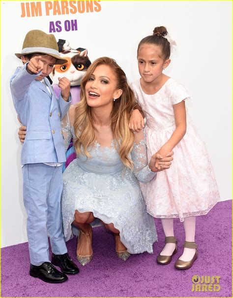 Jennifer lopez brings her kids max amp emme to home premiere photo