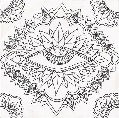 Free Coloring Pages Of Trippy Eye Trippy Printable Coloring Pages