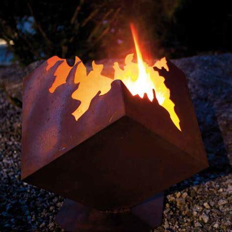feuerstelle metall feuerstelle feuerschale feuerw 252 rfel metall edelrost