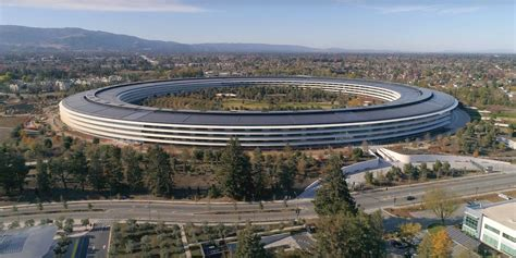 apple park latest drone footage showing apple park starting to live