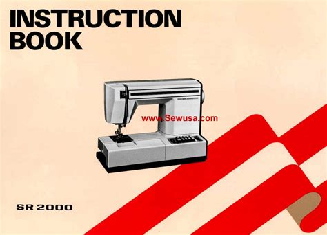 new home model sr 2000 sewing machine manual