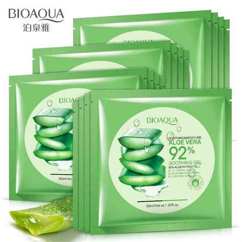 Masker Aloe Vera Gel bioaqua aloe vera gel mask moisturizing