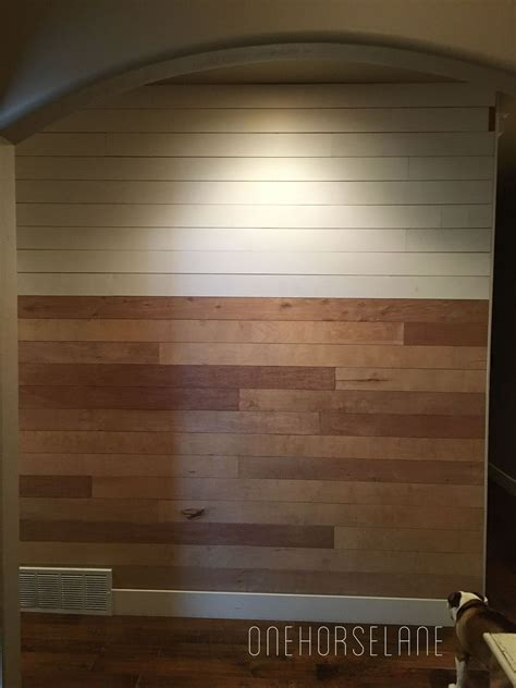 Cheap Shiplap hometalk diy shiplap wall easy cheap and beautiful part 1