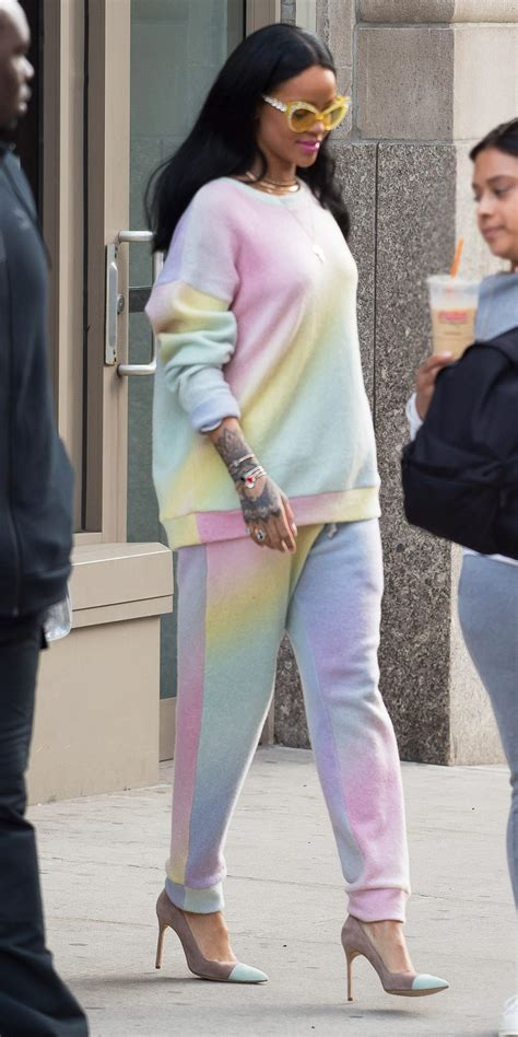 rihannas colorful easter getup instylecom