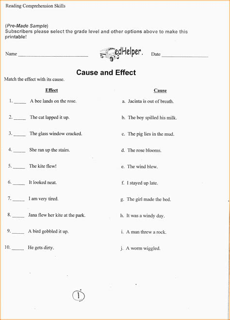 language vi 6th grade ela worksheets kidz activities