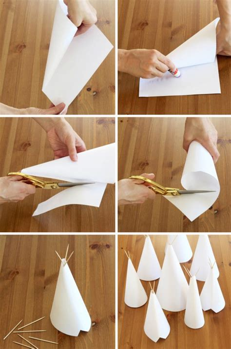 How To Make Paper Teepees - diy teepee craft and centerpiece paging supermom