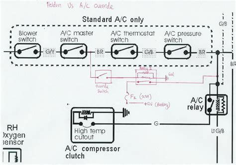 vs commodore air conditioning wiring diagram wiring