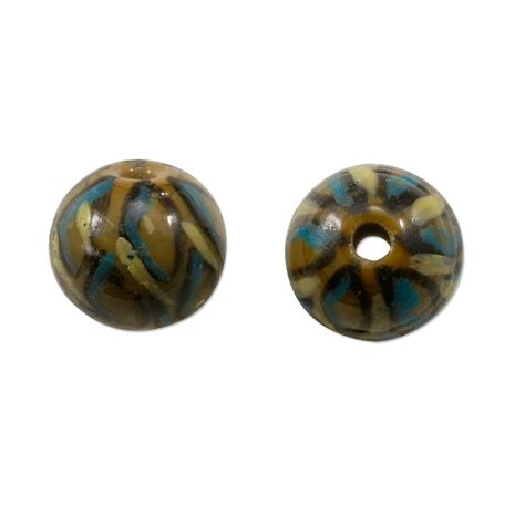 bead supply painted glass tortoise shell bead 10mm