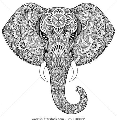 elephant coloring pages aztec designs indian elephants patterns google search zentangle
