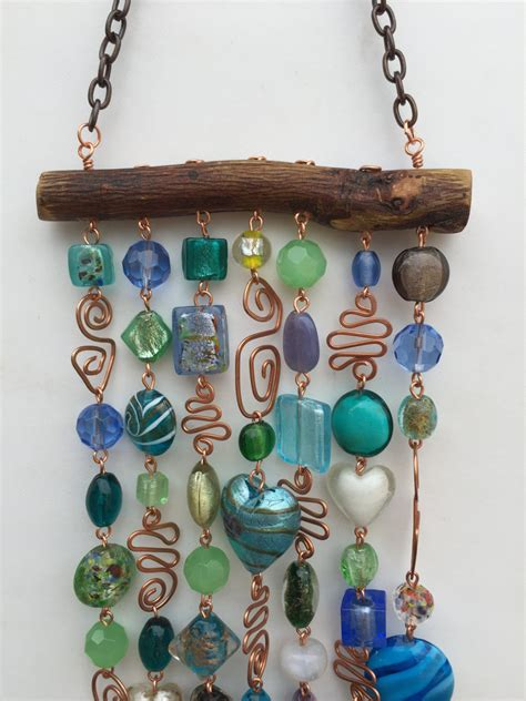 glass bead wind chimes wind chime and suncatcher with glass and copper